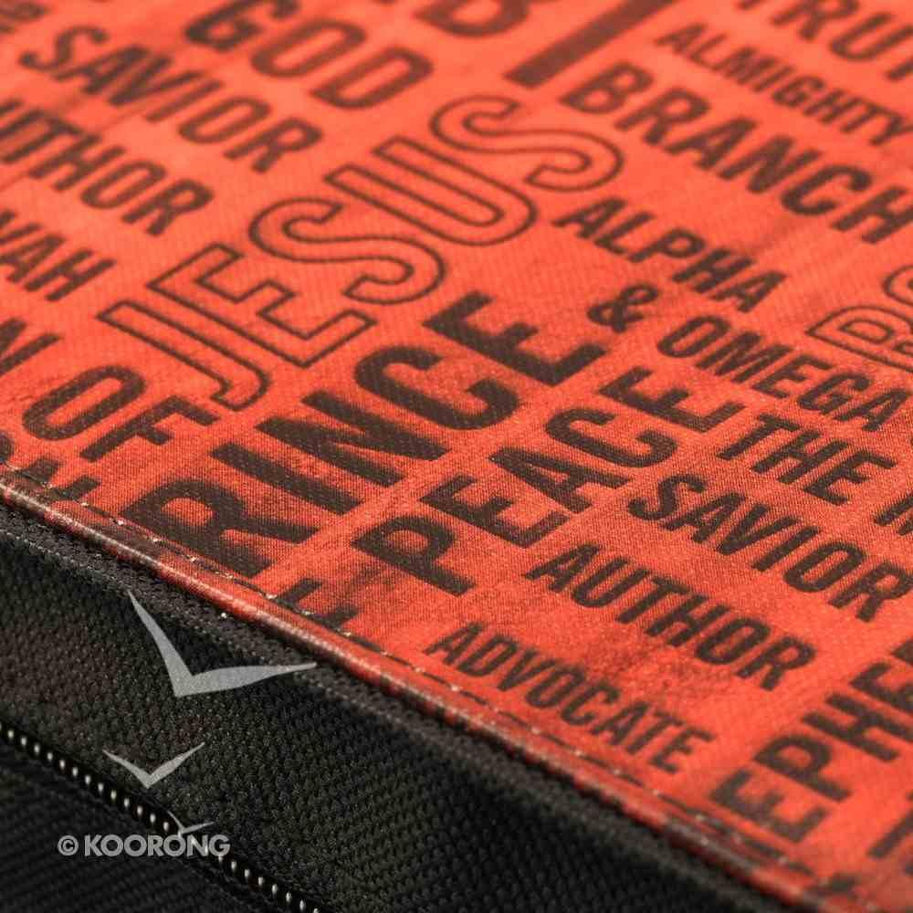 Bible Cover Classic Micro-Fiber: Names of Jesus Medium Bible Cover