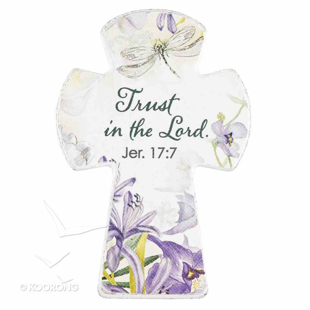 Small Cross Magnet: Trust in the Lord (Jeremiah 17:7) Novelty