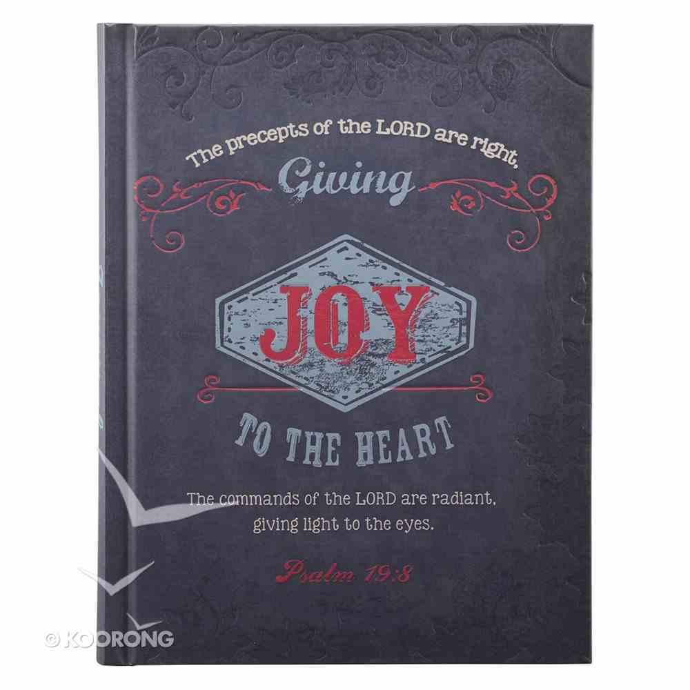 Hard Cover Large Journal Retro: Joy Navy Blue Hardback