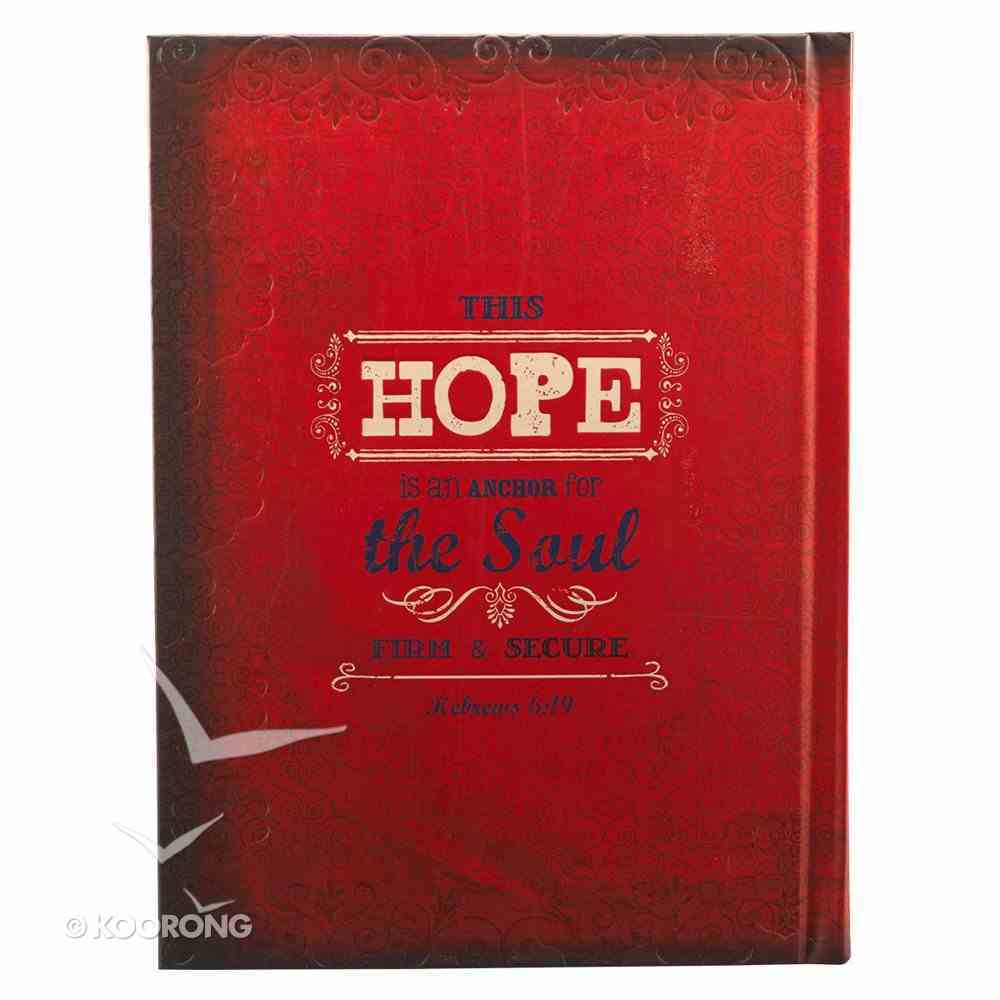 Hard Cover Large Journal Retro: Hope Red Hardback