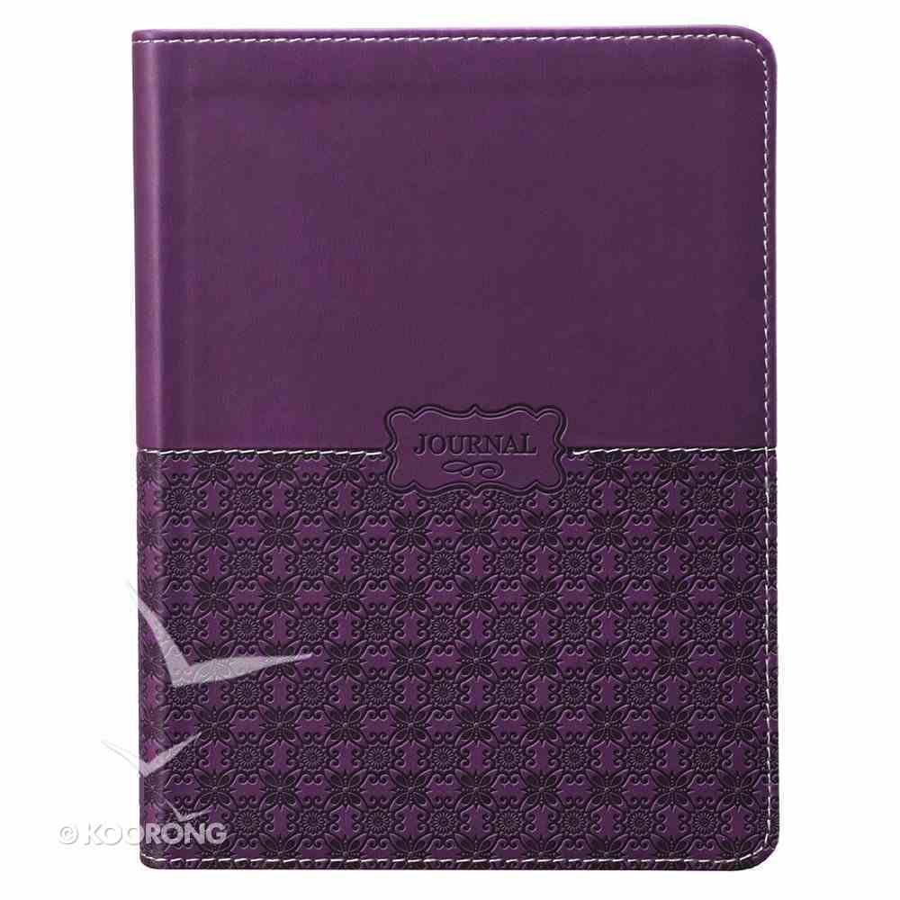 Classic Journal: Patterned Purple Luxleather Imitation Leather
