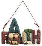 Resin Knitted Finish Holy Family Tree Ornament: Faith Homeware