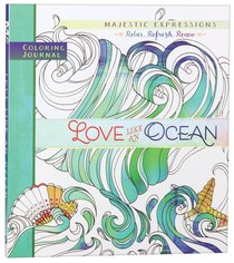 Product: Adult Coloring Journal: Love Like An Ocean Image