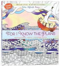 Product: Adult Colouring Book: For I Know The Plans (Travel Size) Image