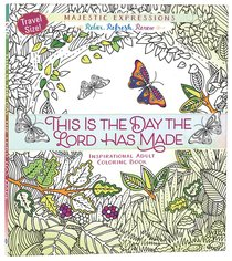 Product: Adult Coloring Book Travel Size: This Is The Day The Lord Has Made Image