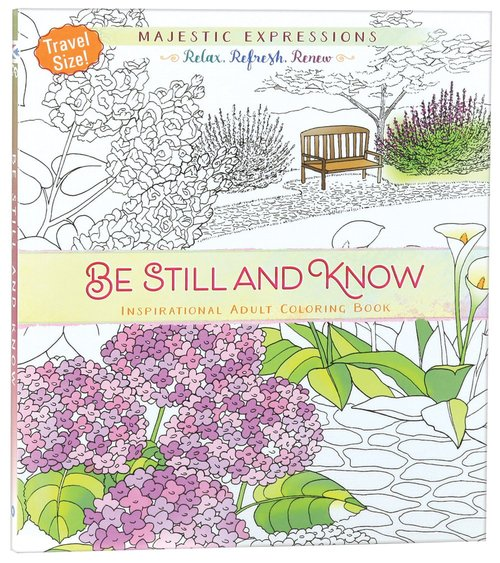 Product: Adult Colouring Book: Be Still And Know (Travel Size) Image