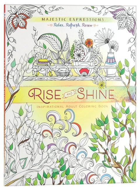 Product: Adult Coloring Book: Majestic Expressions: Rise And Shine Image