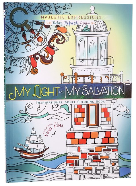 Product: Adult Coloring Book: My Light & My Salvation Image