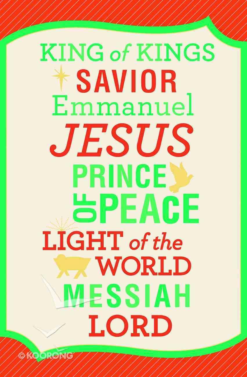 Christmas Premium Boxed Cards: King of Kings (Philippians 2:9 Kjv) Box