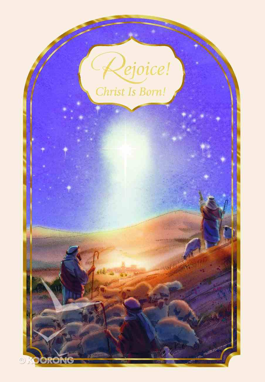 Christmas Boxed Cards: Rejoice, Christ is Born (Luke 2:10 Niv) Box