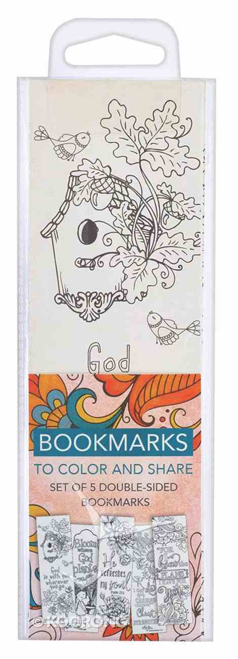Bookmark: Adult Coloring Double Sided: Includes Scripture, Orange (Set Of 5) Stationery