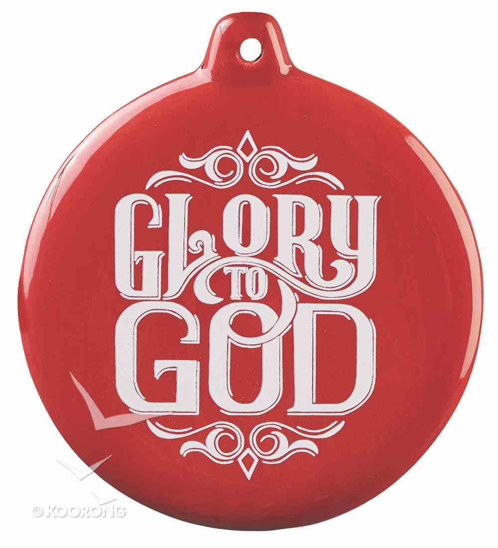 Hand-Drawn Art Ornaments: Glory to God (Red) Homeware