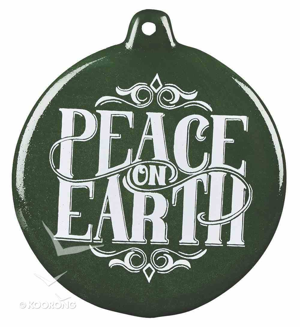 Hand-Drawn Art Ornaments: Peace on Earth (Dark Green) Homeware