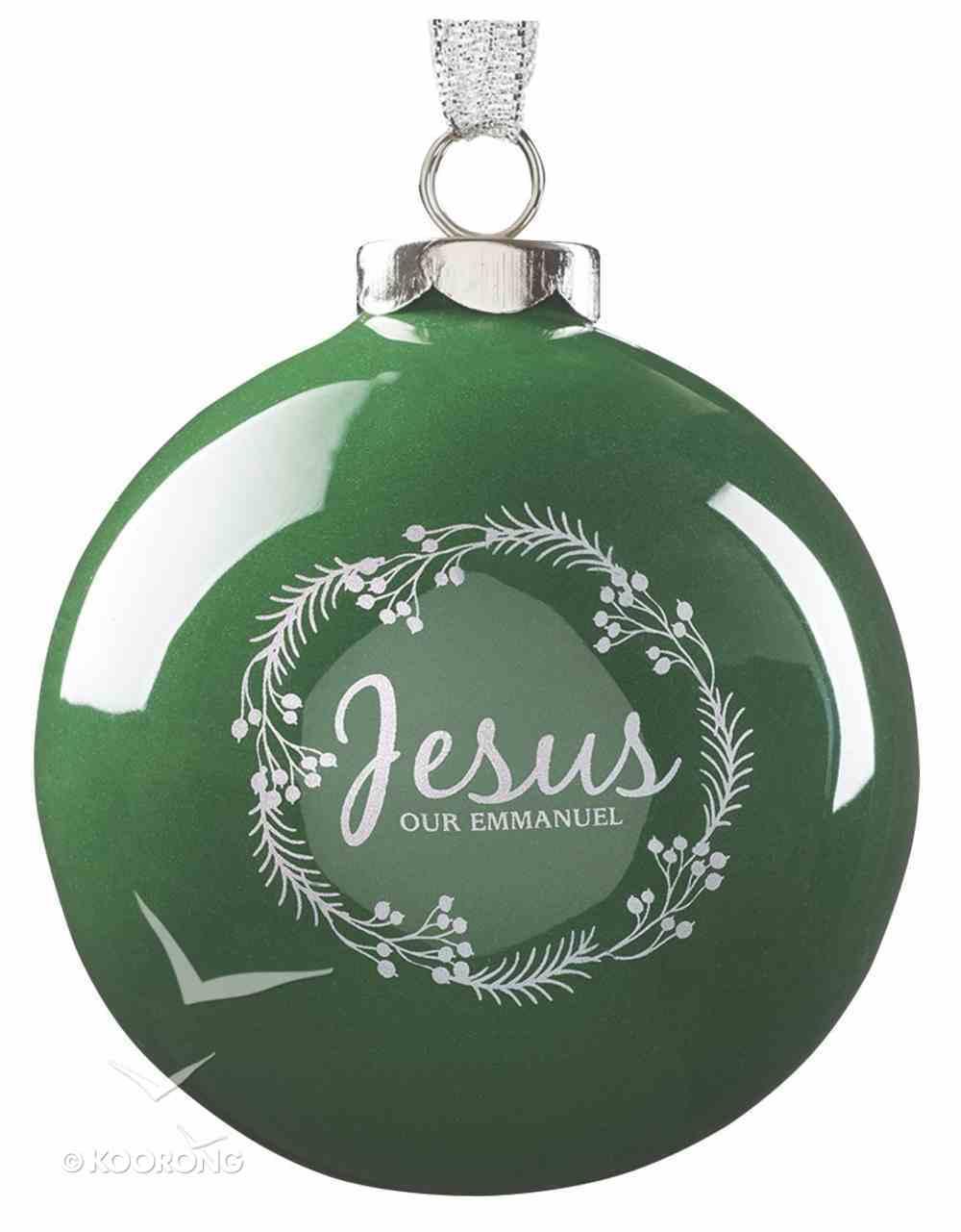 Ornament Christmas Wreath: Jesus (Green) Homeware