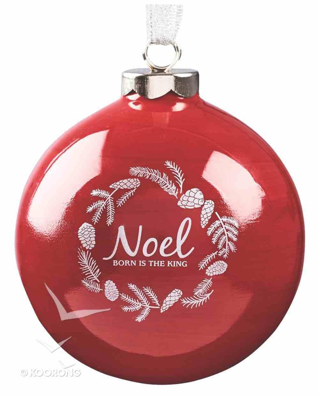 Ornament Christmas Wreath: Noel (Red) Homeware