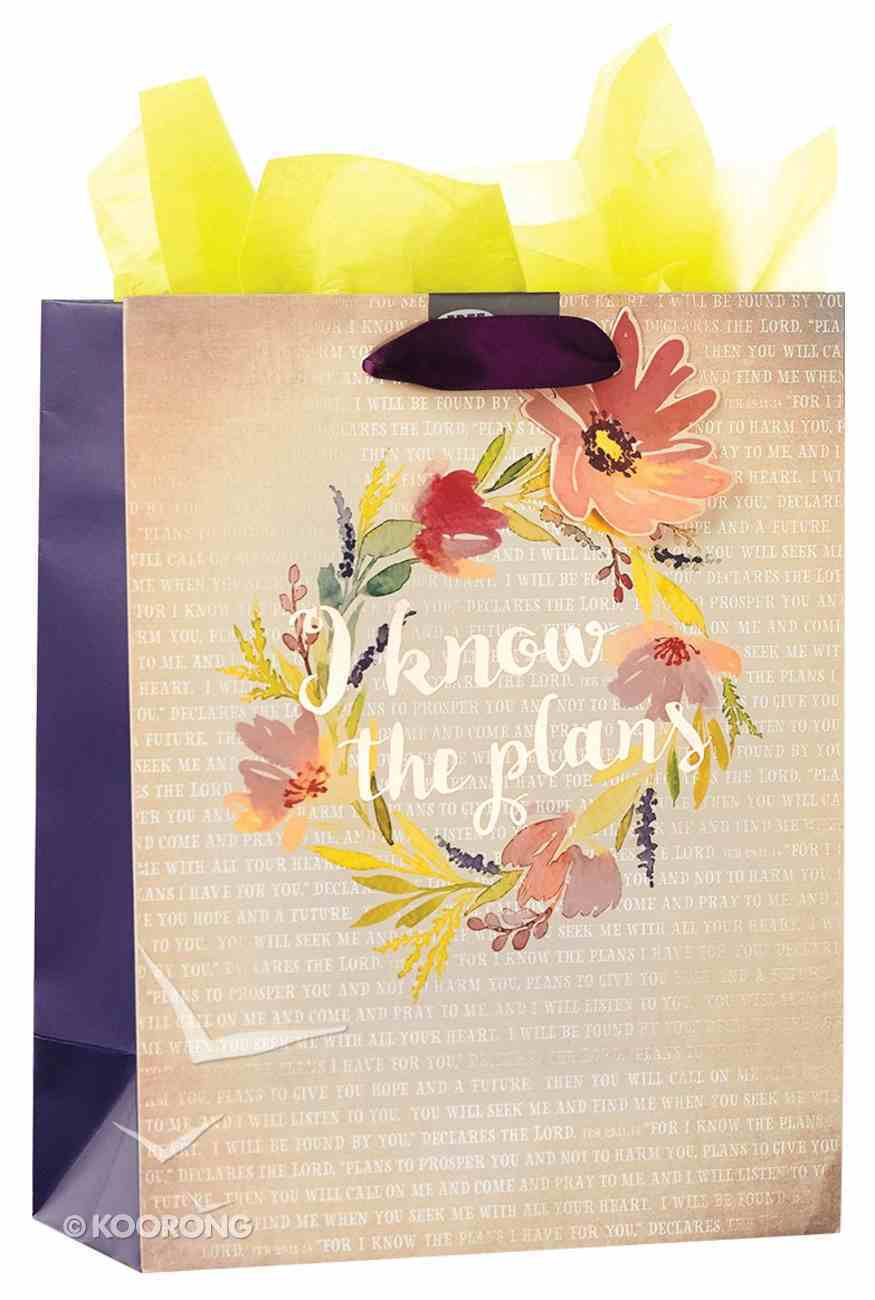 Gift Bag Medium: I Know the Plans (Colored Wreath) Stationery