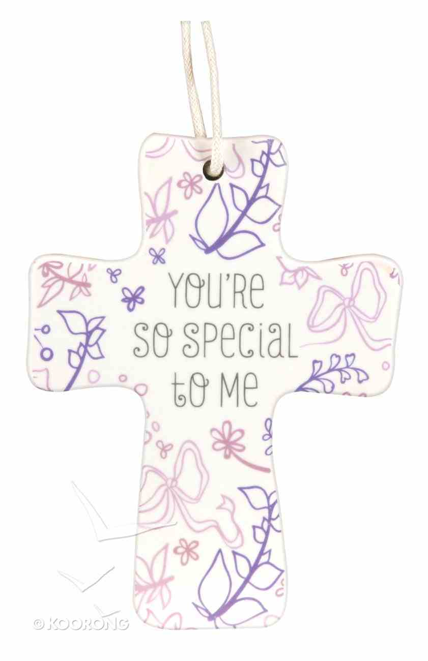 Cross Ceramic With Cord: You're So Special: Natural Blessings (1 Cor 1:4) Homeware