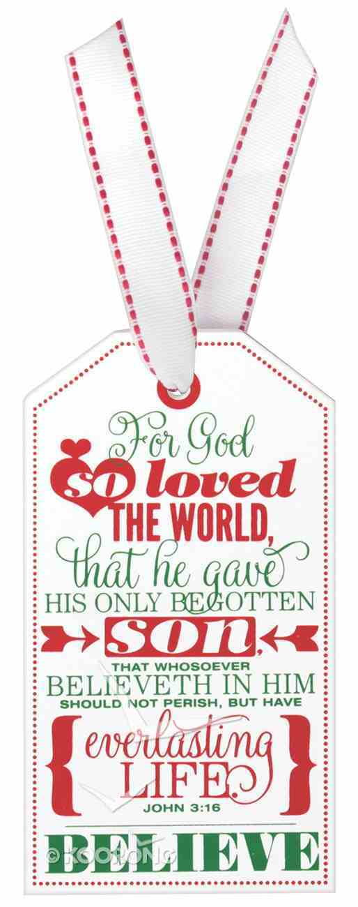 Christmas Tag Ornament: Believe Homeware