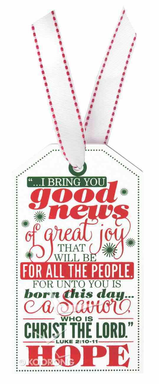 Christmas Tag Ornament: Hope (Luke 2:10-11) Homeware