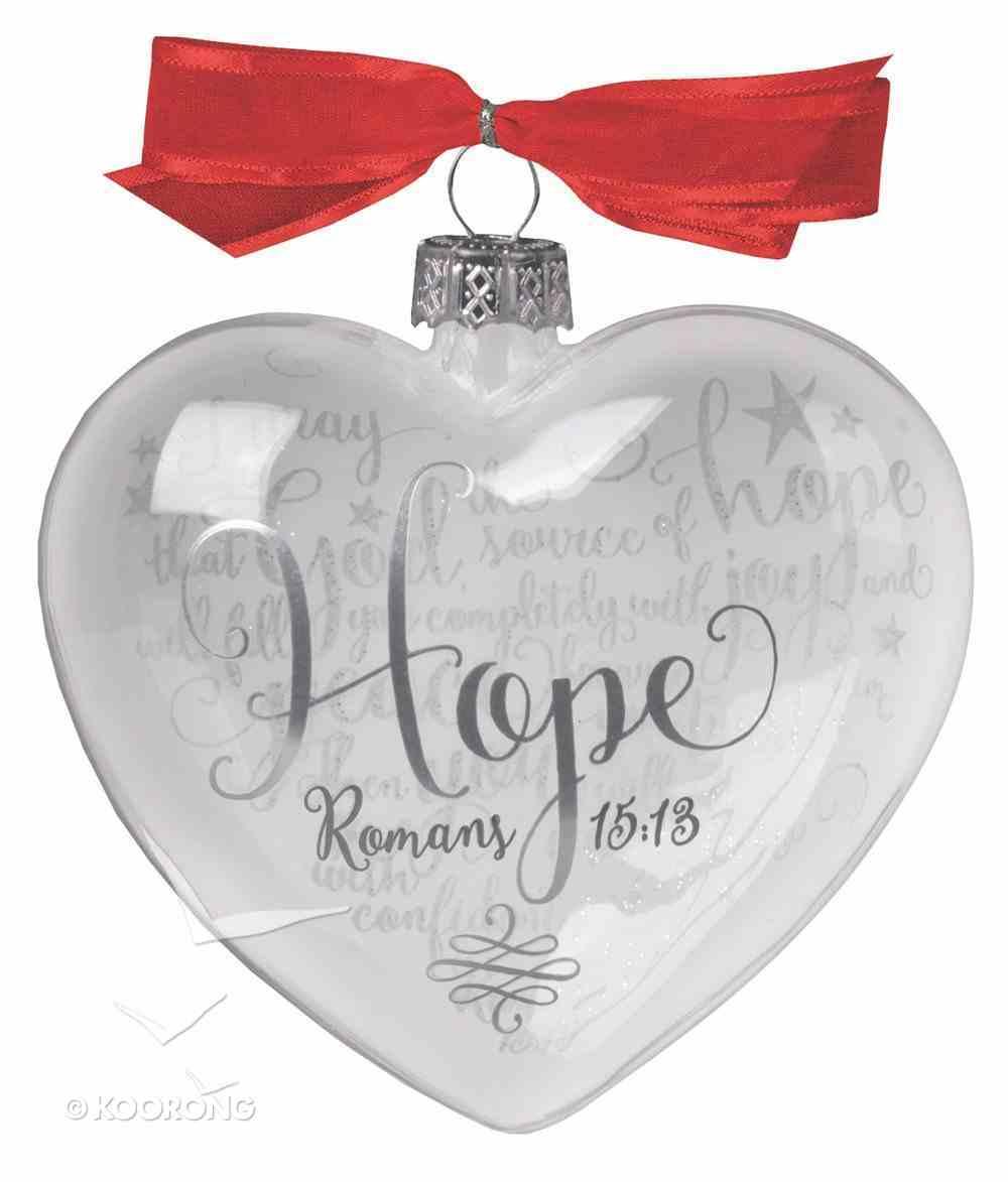 Christmas Glass Reflecting God's Love Ornament: Hope (Romans 15:13) Homeware