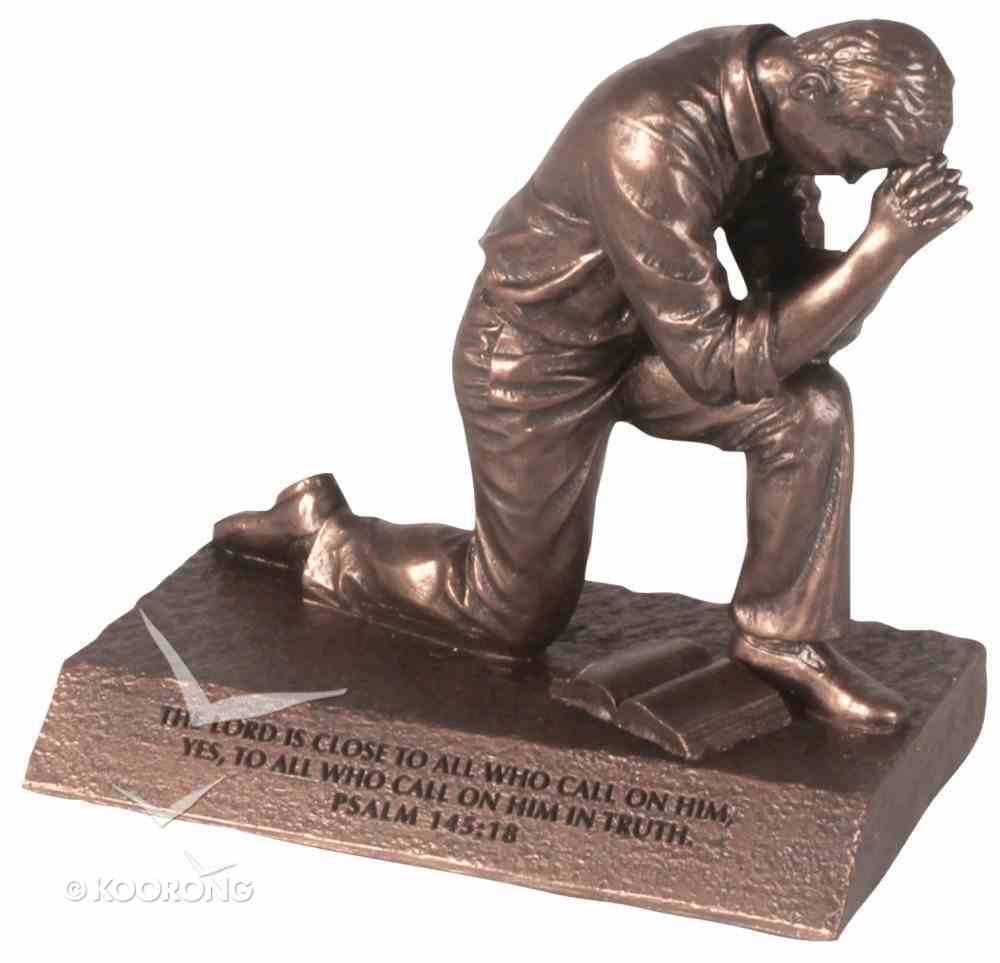 Moments of Faith Prayer Sculpture: Praying Man (Psalm 145:18) Homeware