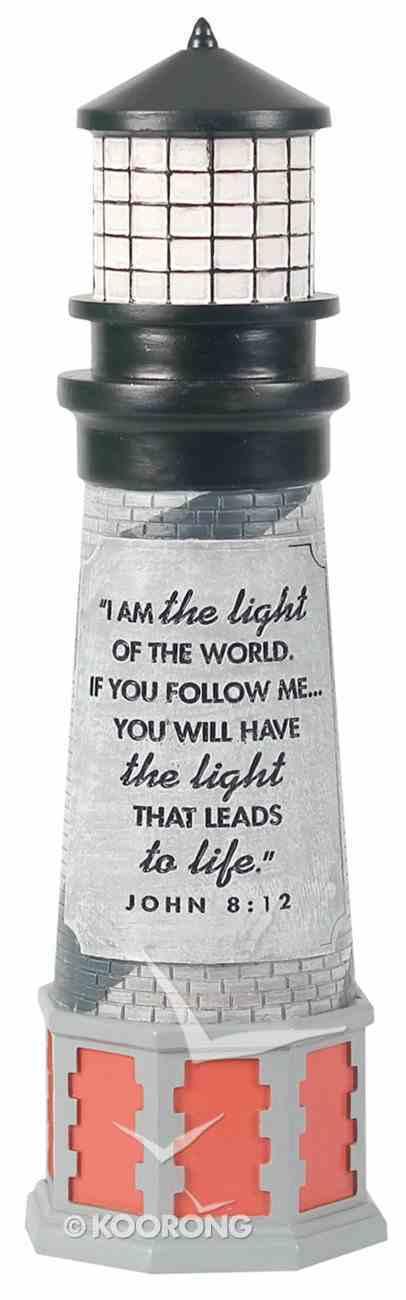 Lighthouse Moment of Faith Sculpture: I Am the Light (John 8:12) Homeware
