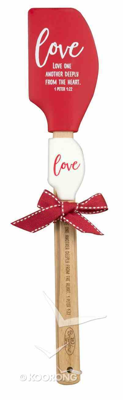 Silicone Spatula Red: Love, Love on Another Deeply From the Heart Homeware