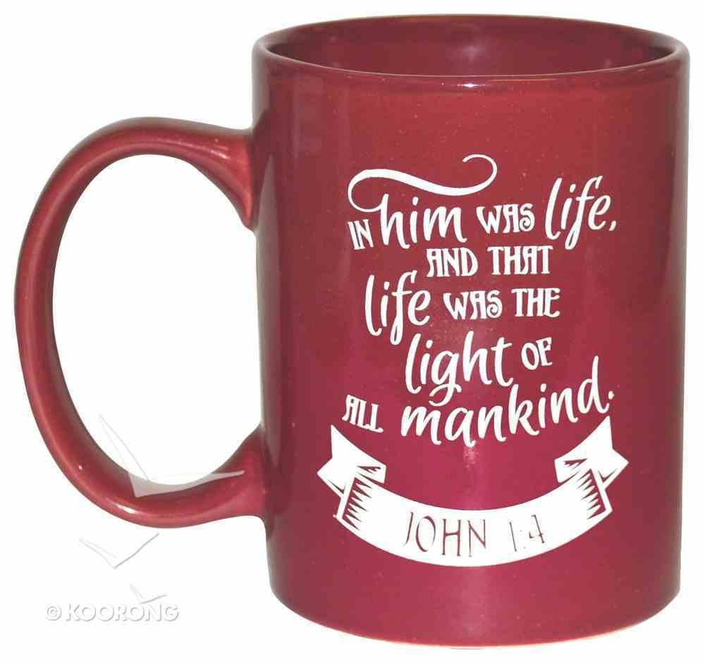 Ceramic Glazed Christmas Mug: Joy to the World (Red/white) Homeware
