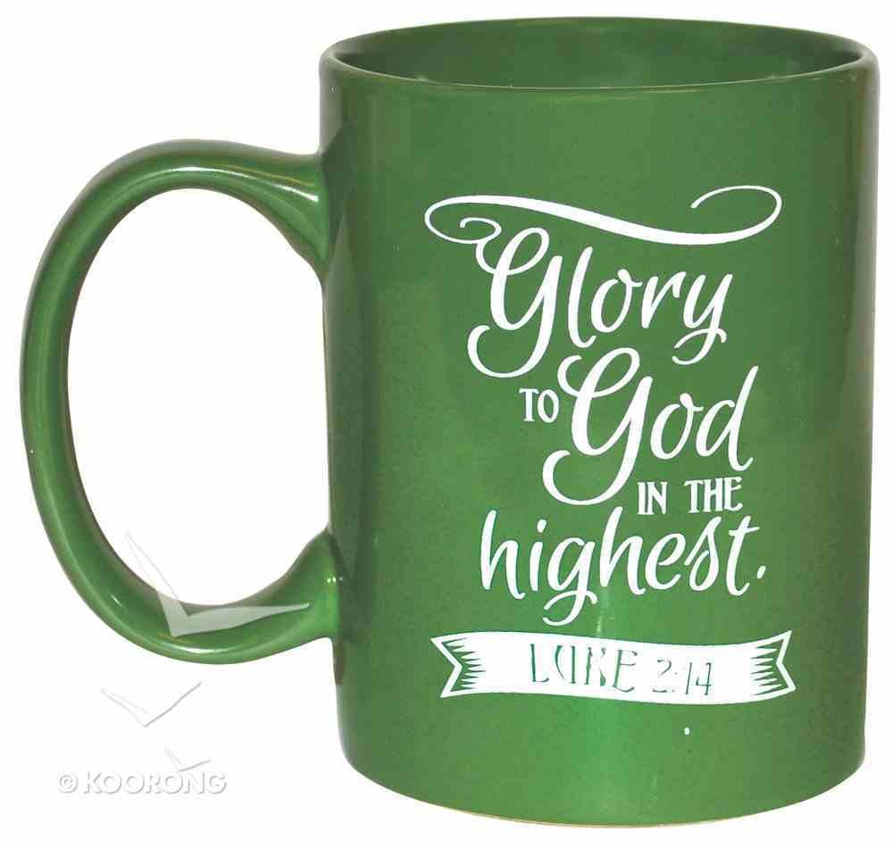 Ceramic Glazed Christmas Mug: The Newborn King (Green/white) Homeware