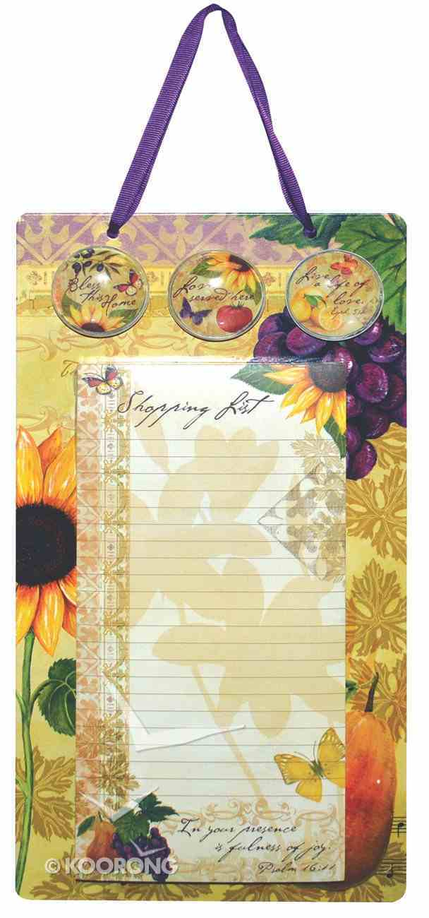 Bella Vita Collection: Metal Sign, List Pad & 3 Magnets Stationery