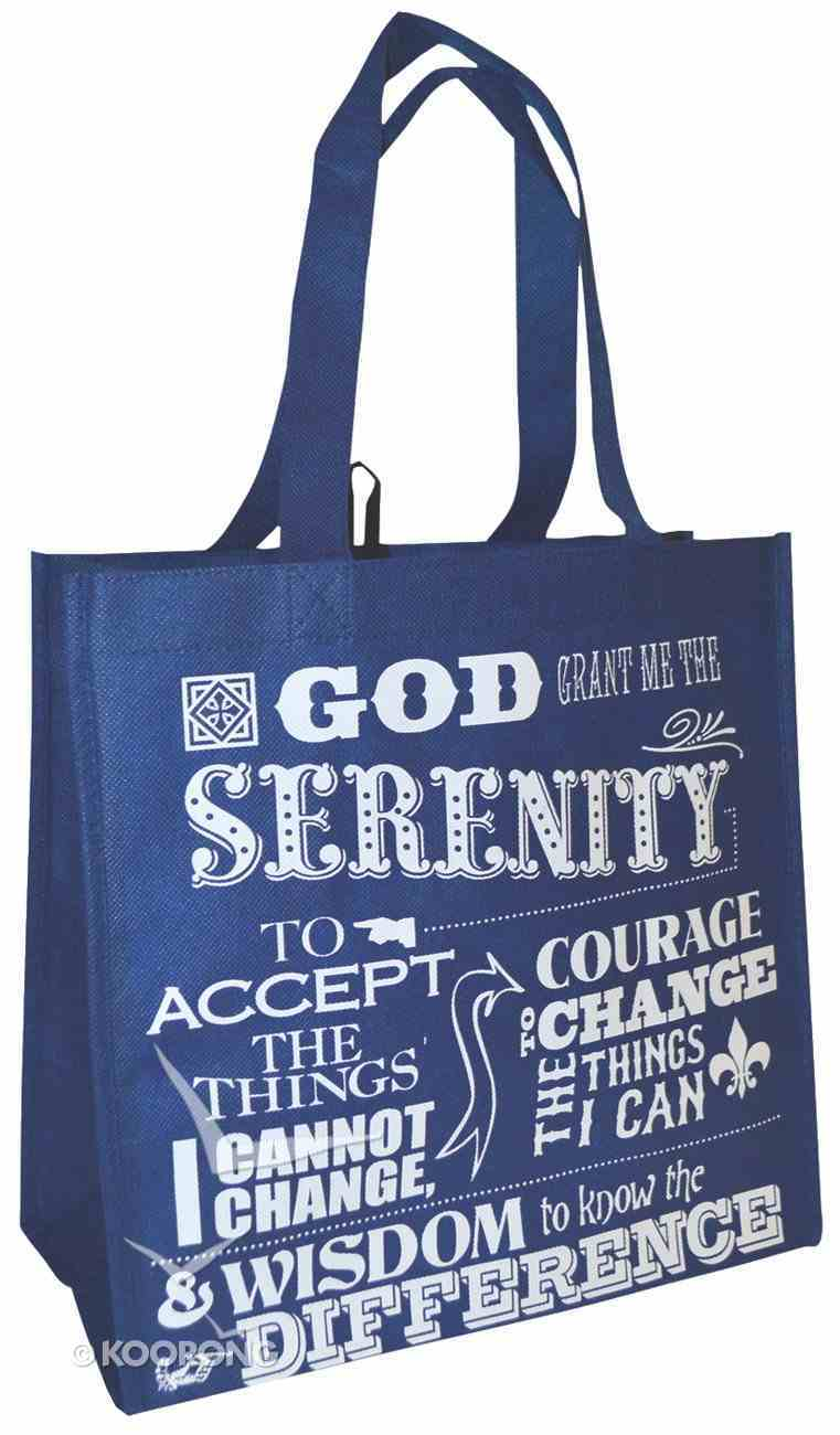 Reusable Shopping Bag: Serenity Prayer (Blue With Blue Shoes) Soft Goods