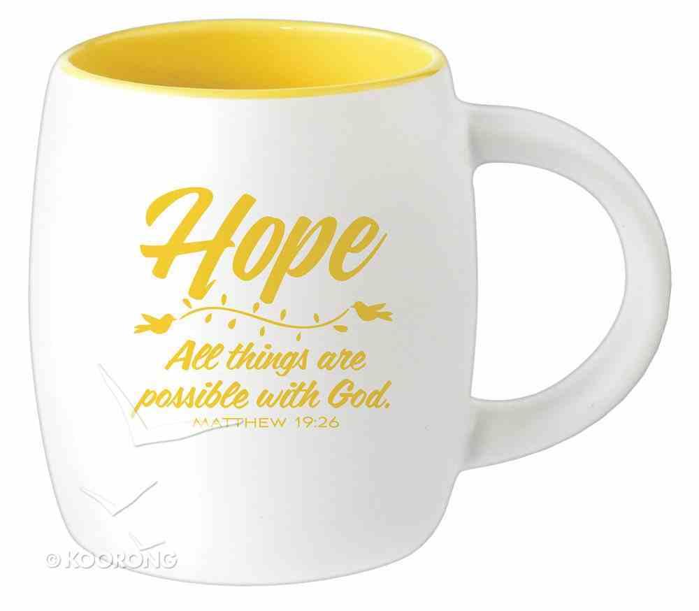Ceramic Barrel Mug: Hope (Yellow) Homeware