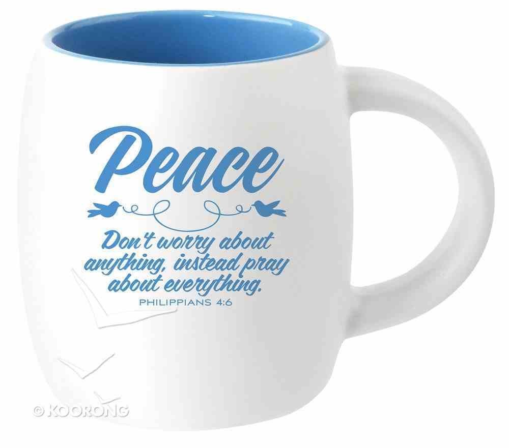 Ceramic Barrel Mug: Peace (Light Blue) Homeware