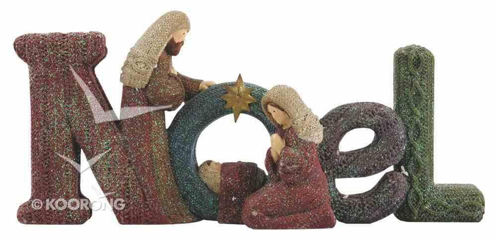 Resin Knitted Finish Holy Family Standing Ornament: Noel Homeware