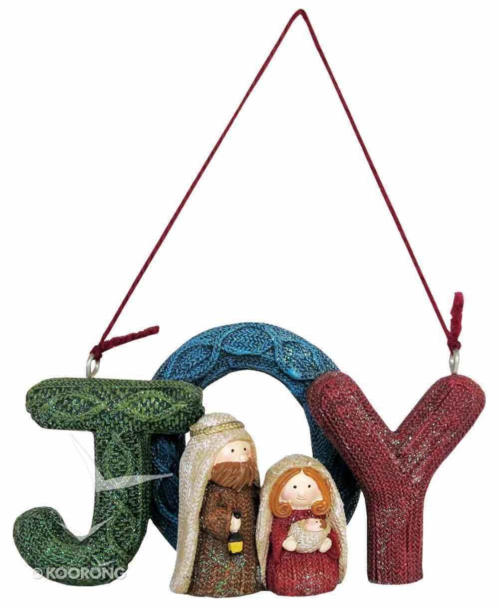 Resin Knitted Finish Holy Family Tree Ornament: Joy Homeware