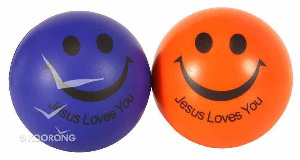 Squeeze Ball Pack of 2: Blue & Orange, Jesus Loves You Novelty