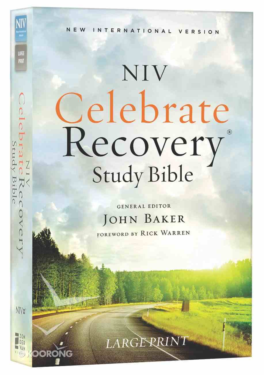 NIV Celebrate Recovery Large Print Study Bible (Black Letter Edition) Paperback