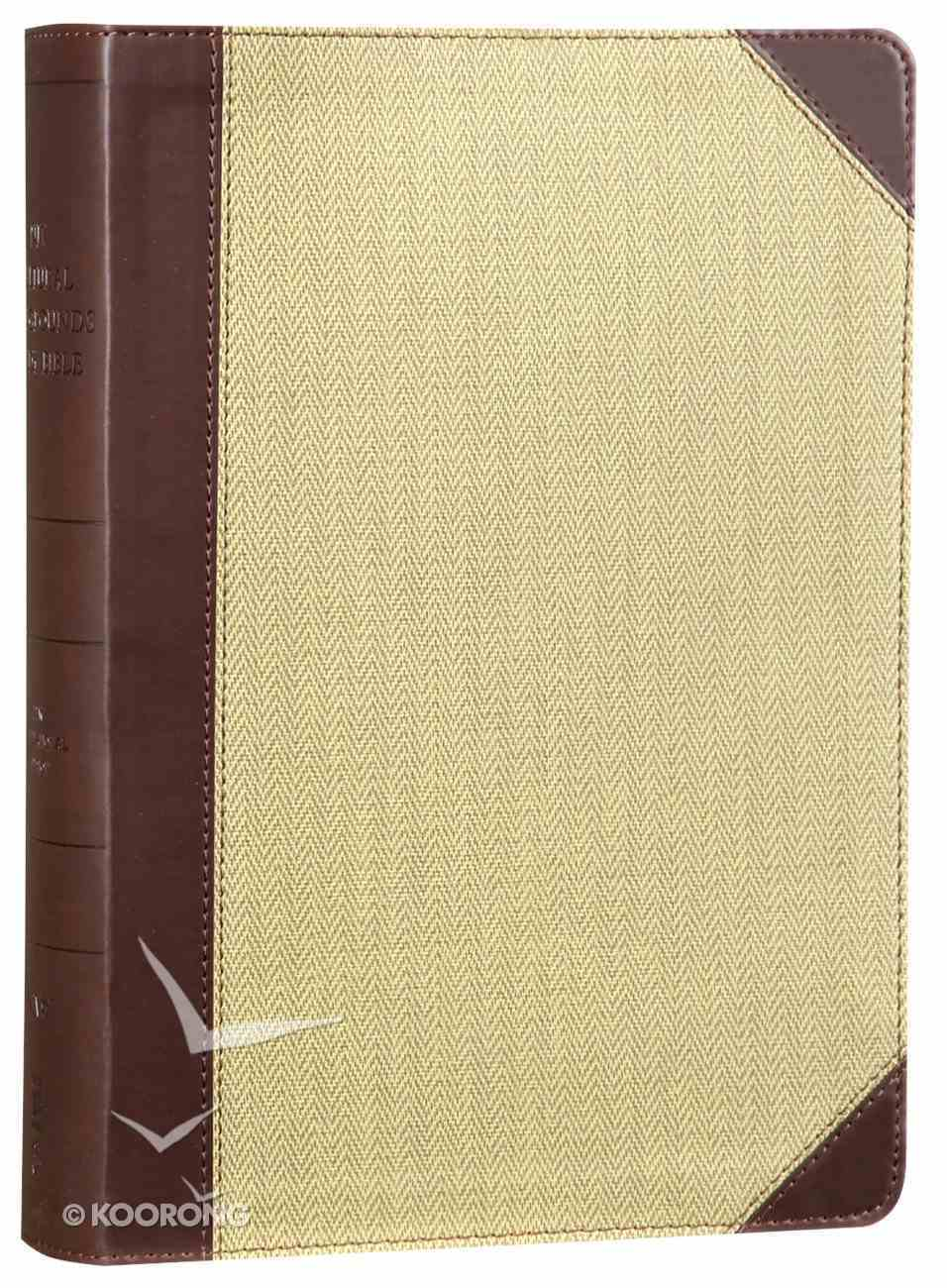 NIV Cultural Backgrounds Study Bible Brown/Tan Red Letter Edition Premium Imitation Leather