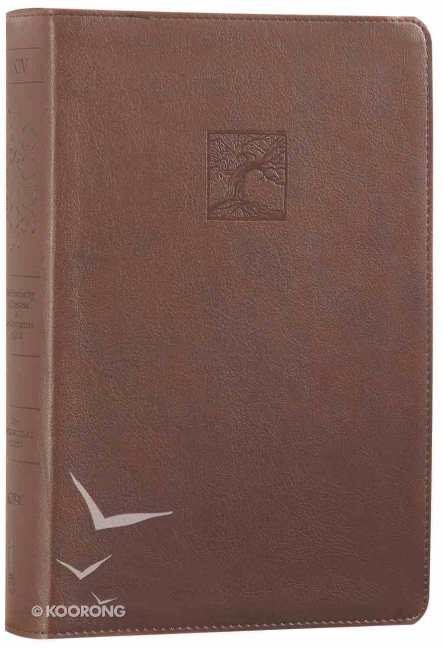 NIV God's Justice Holy Bible Brown (Black Letter Edition) Premium Imitation Leather