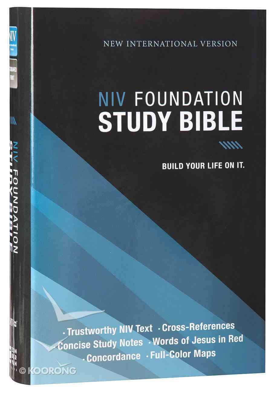 NIV Foundation Study Bible (Red Letter Edition) Hardback