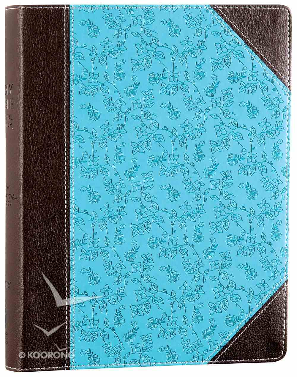 NIV Single-Column Journaling Bible Chocolate/Turquoise Imitation Leather