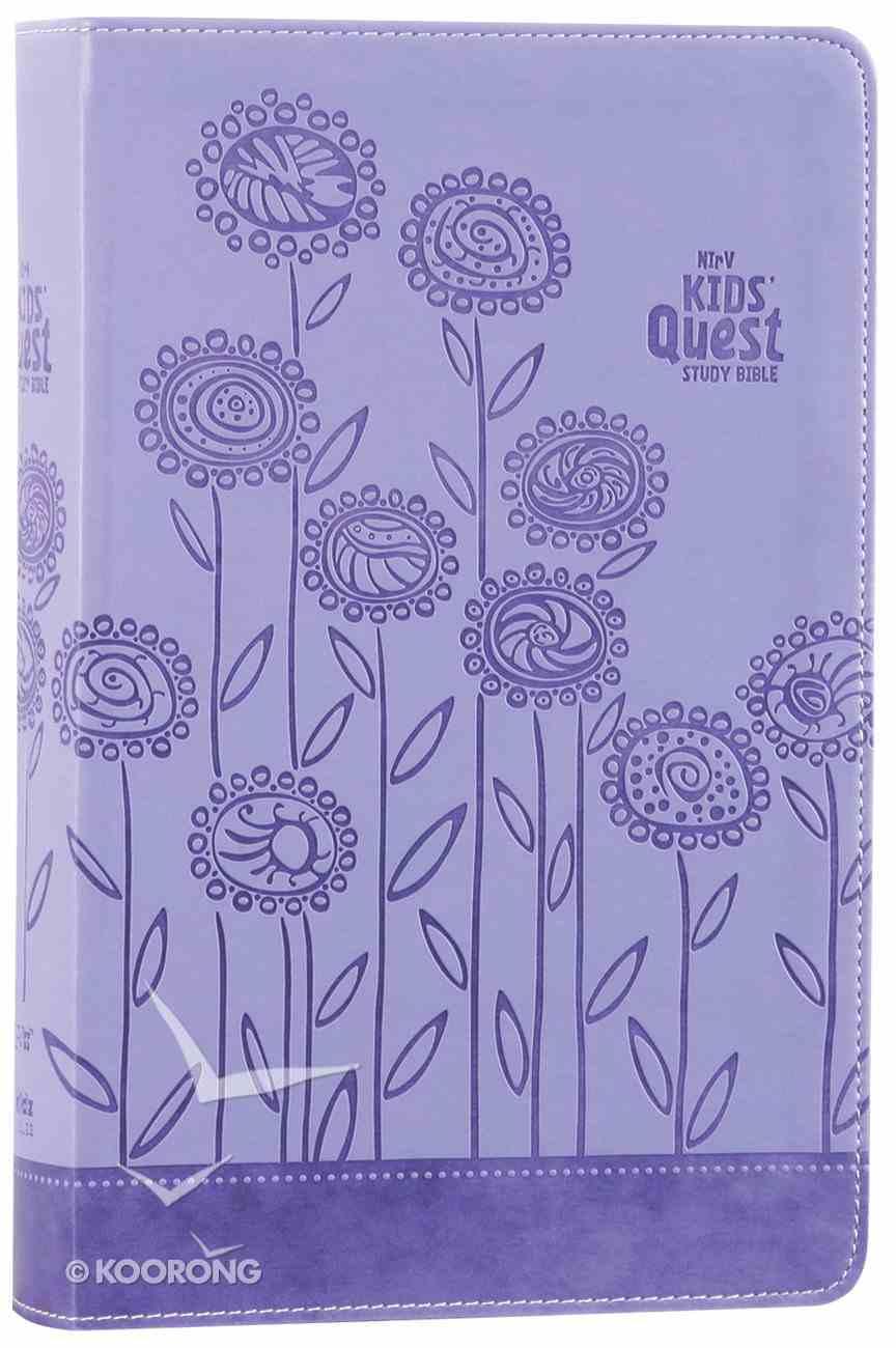 NIRV Kids' Quest Study Bible Lavender (Black Letter Edition) Premium Imitation Leather