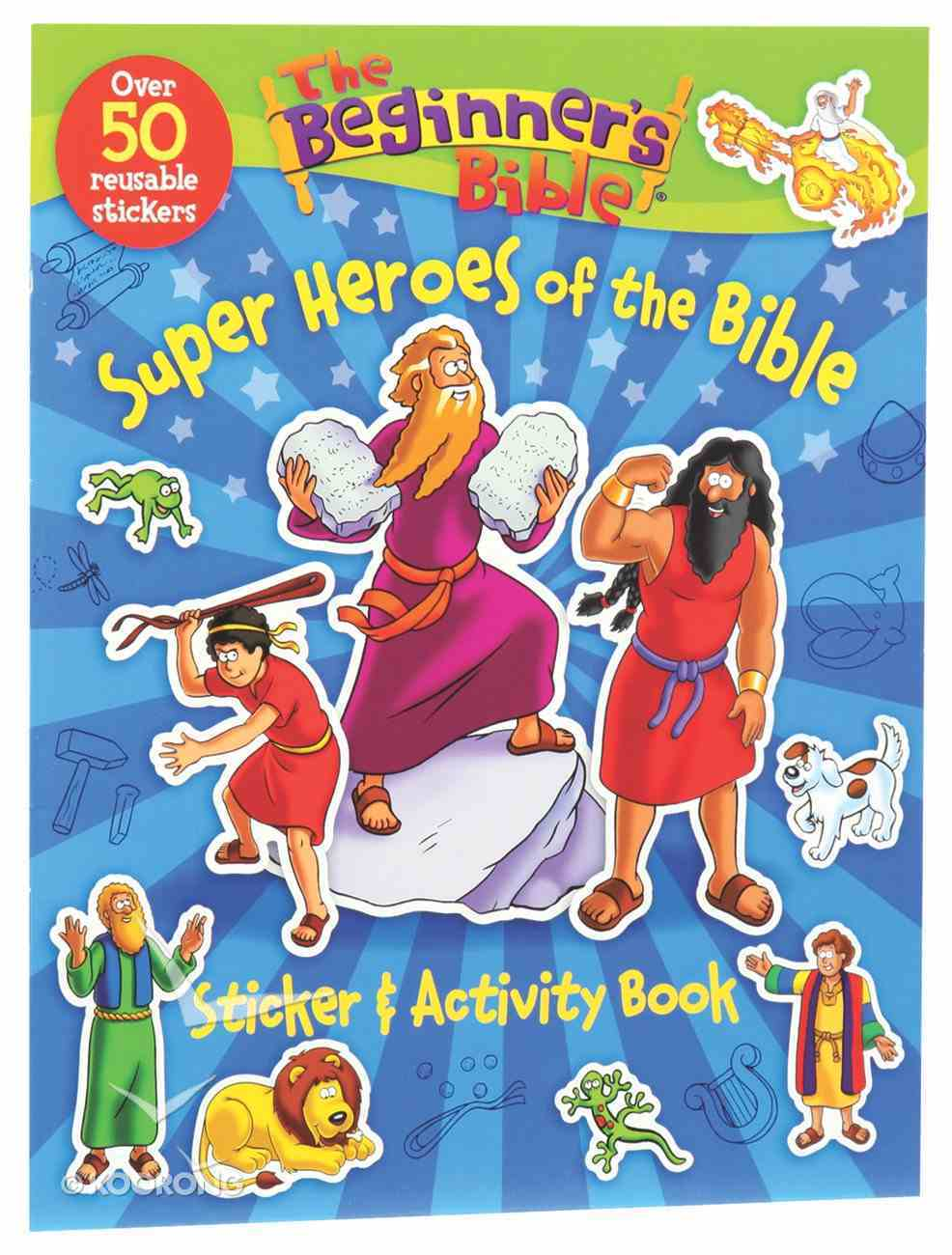 Beginner's Bible: A Super Heroes of the Bible Sticker and Activity Book Paperback