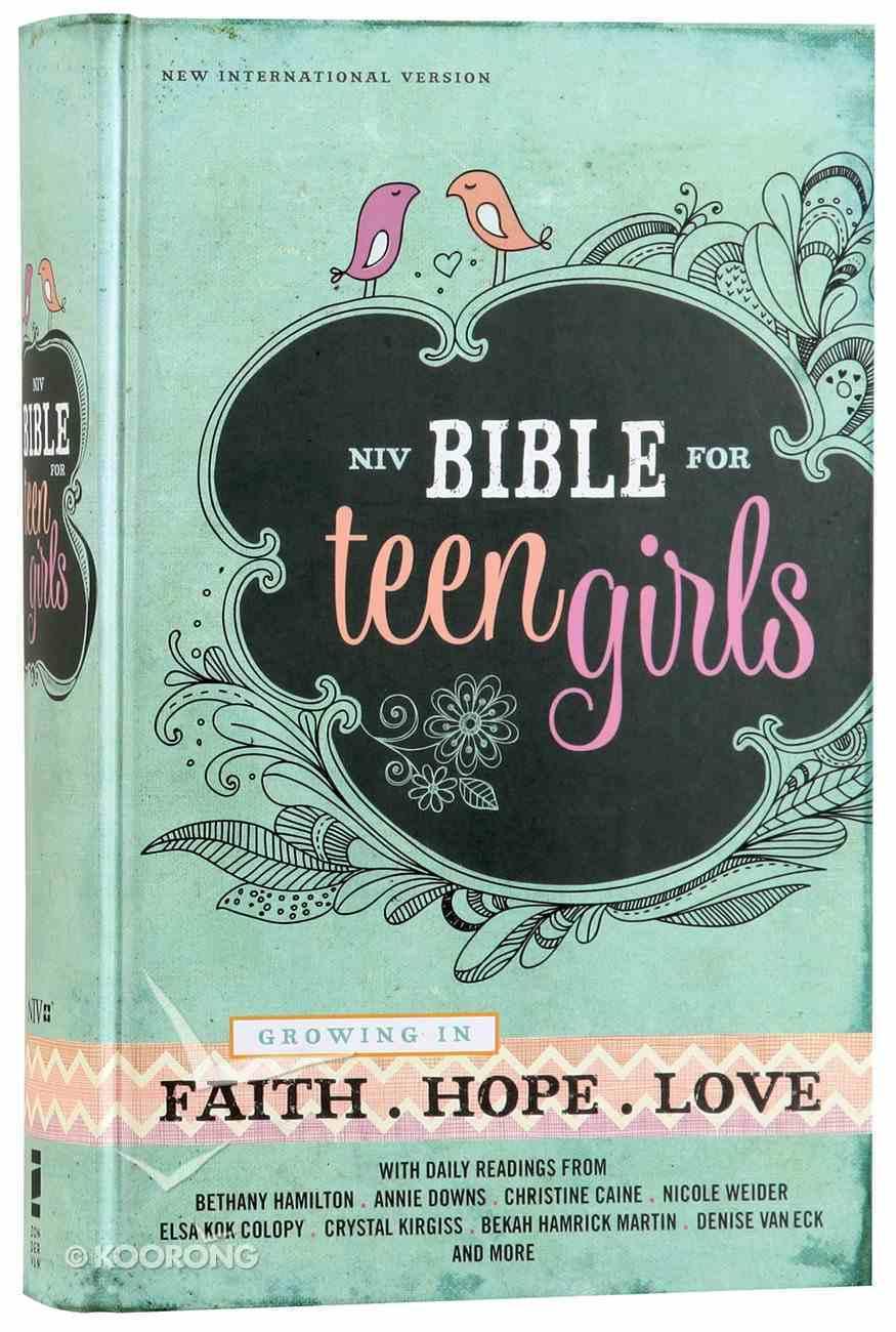 NIV Bible For Teen Girls (Black Letter Edition) Hardback