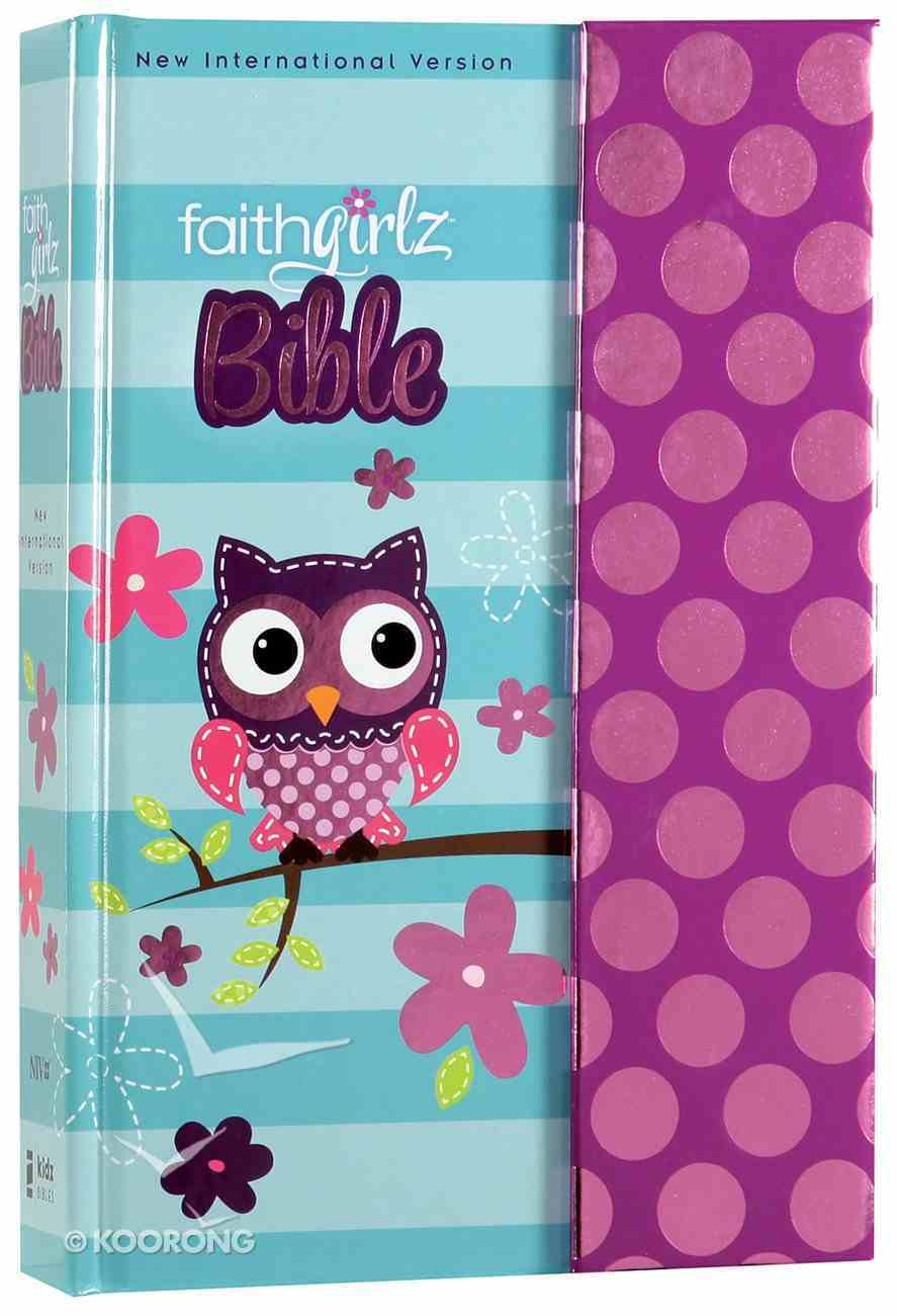 NIV Faithgirlz! Bible Owl With Magnetic Flap (Black Letter Edition) Hardback