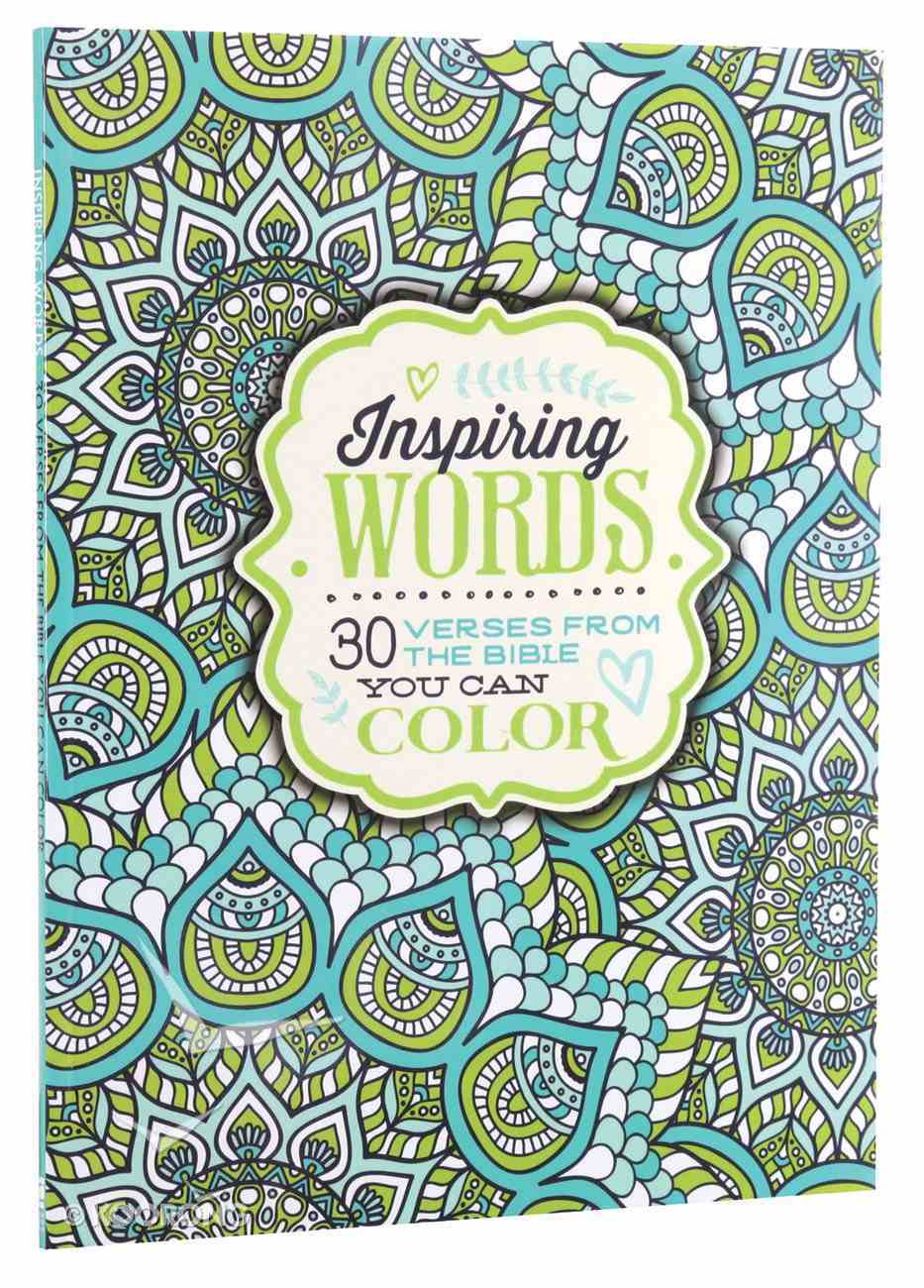 Inspiring Words (Adult Coloring Books Series) Paperback