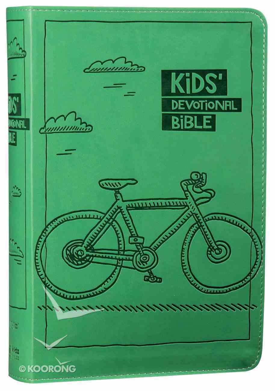NIRV Kids' Devotional Bible Green Bicycle (Black Letter Edition) Premium Imitation Leather