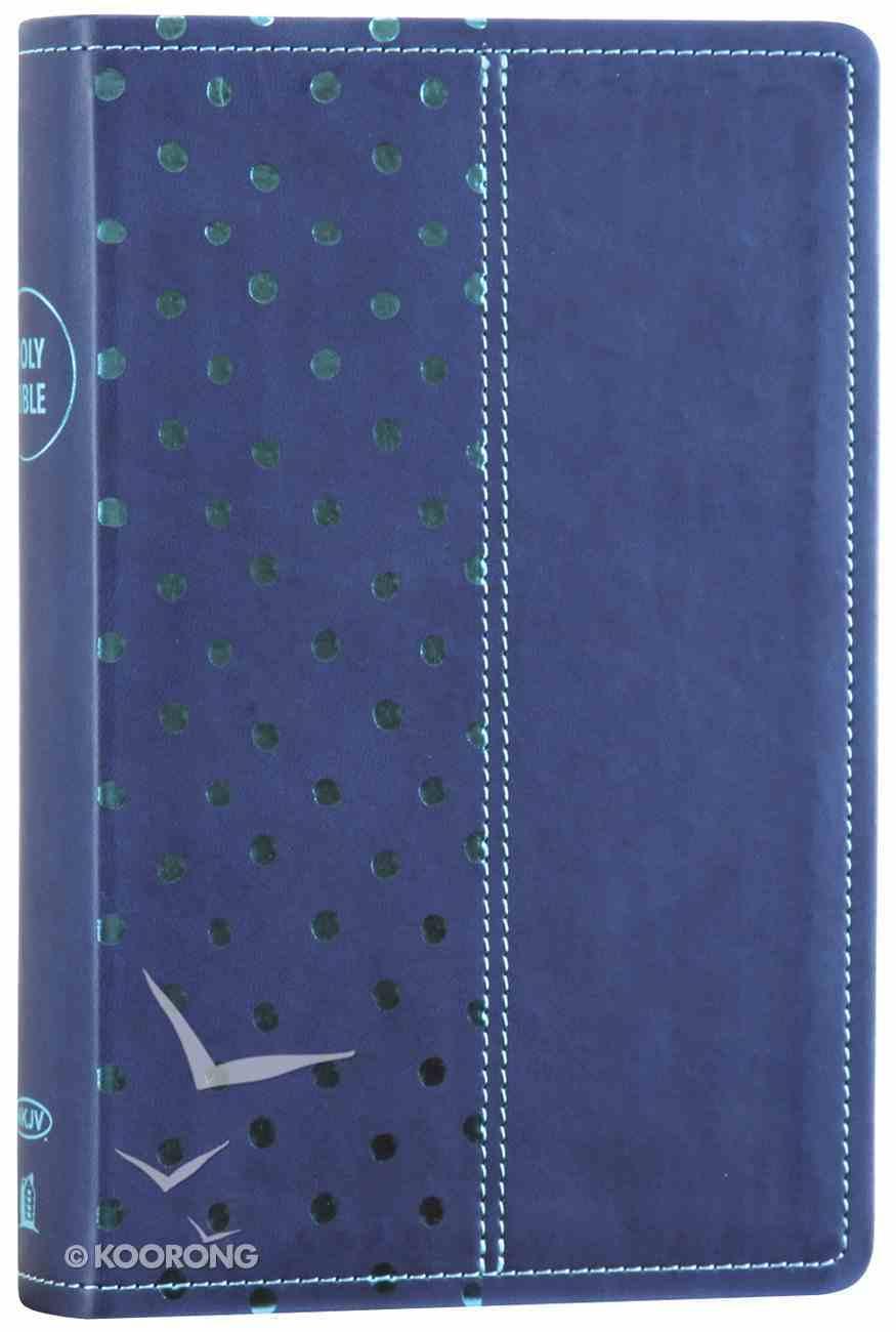 NKJV Gift Bible Navy/Turquoise Polka Dot (Red Letter Edition) Premium Imitation Leather