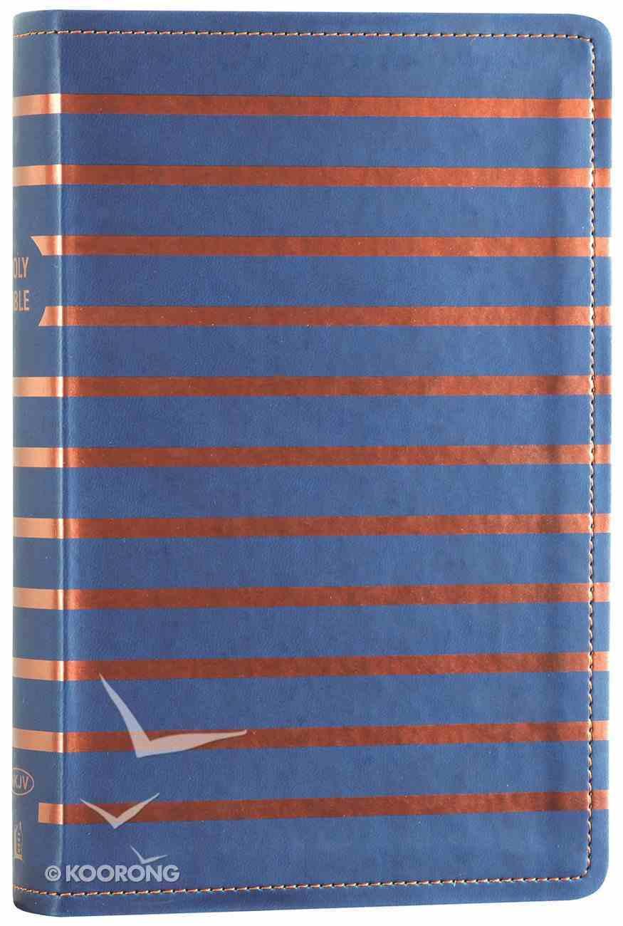 NKJV Gift Bible Blue/Orange Stripe (Red Letter Edition) Premium Imitation Leather