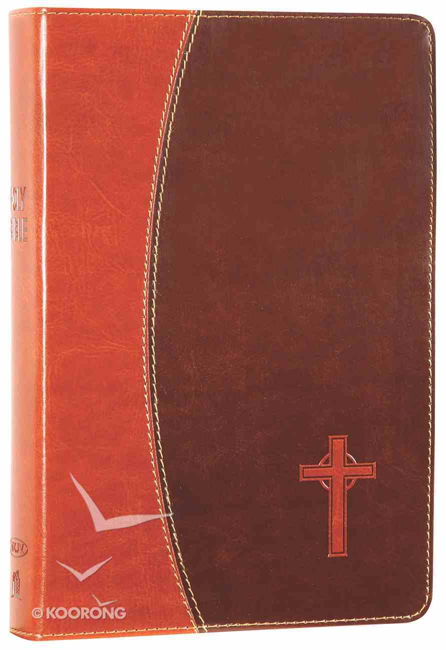 NKJV Gift Bible Dark Brown/Brown (Red Letter Edition) Premium Imitation Leather
